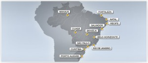 Soccer World Cup Brazil Hodting Cities